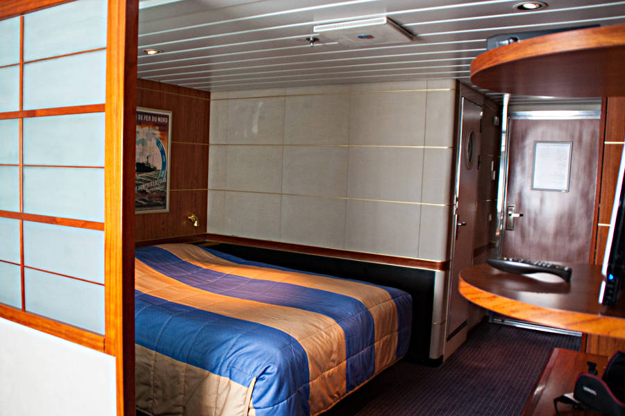 Die Commodore Deluxe Suite an Bord der King Seaways