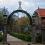 Kleine Wohnsiedlung mit Park in Enkhuizen