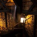 Kleines Detail in der Museumsmühle von Schermerhorn - eine alte Lampe