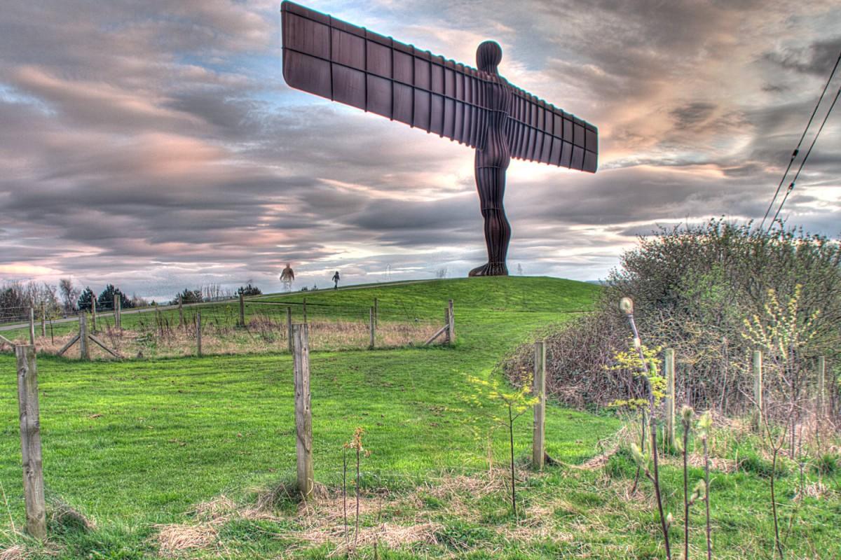 Der Engel des Nordens in der Nähe von Newcastle