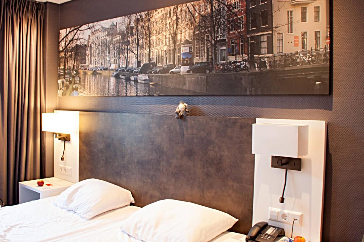 Standardzimmer im Hotel Amsterdam De Roode Leeuw