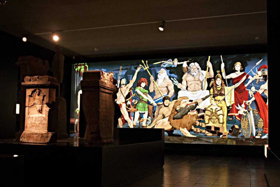 Im Römermuseum Osterburken
