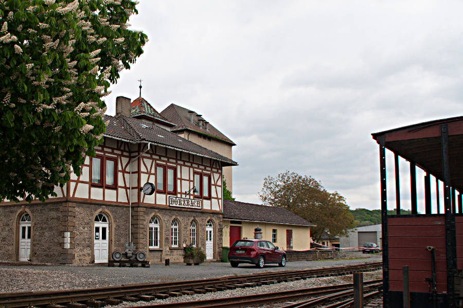 Das Bahnhofsgebäude in Dörzbach wurde bereits wieder hergerichtet.