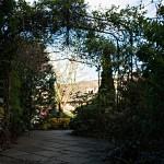 Der Laubengang verbindet die verschiedenen Gebäudeteile des Hotels Lumley Castle