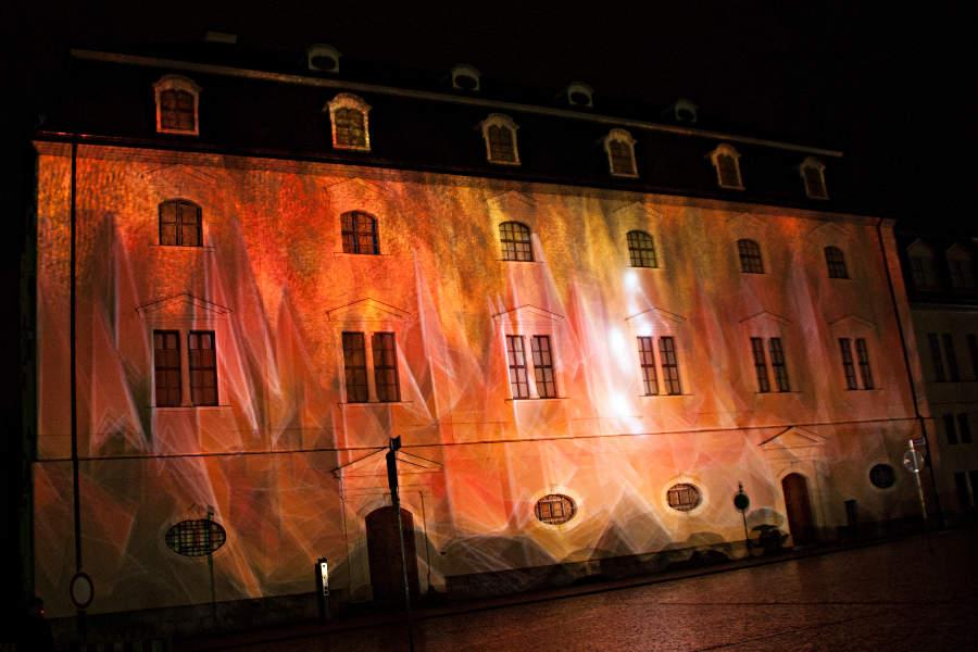Fassadenshow Limen beim Genius Loci 2014