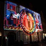 Projektion von Xenorama am Herderplatz während des Genius Loci Festivals in Weimar