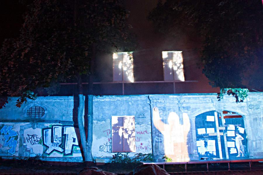 Am ehemaligen Künstlerhaus im Zeughof in Weimar konnten sich Nachwuchskünstler austoben.