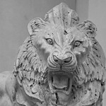 Brüllender Löwe auf dem Wiener Prater