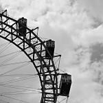 Detail vom historischen Riesenrad auf dem Wiener Prater