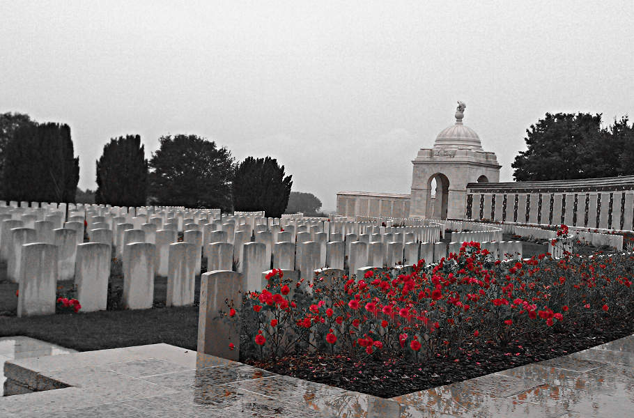 Der Tyne Cot Friedhof in Flandern
