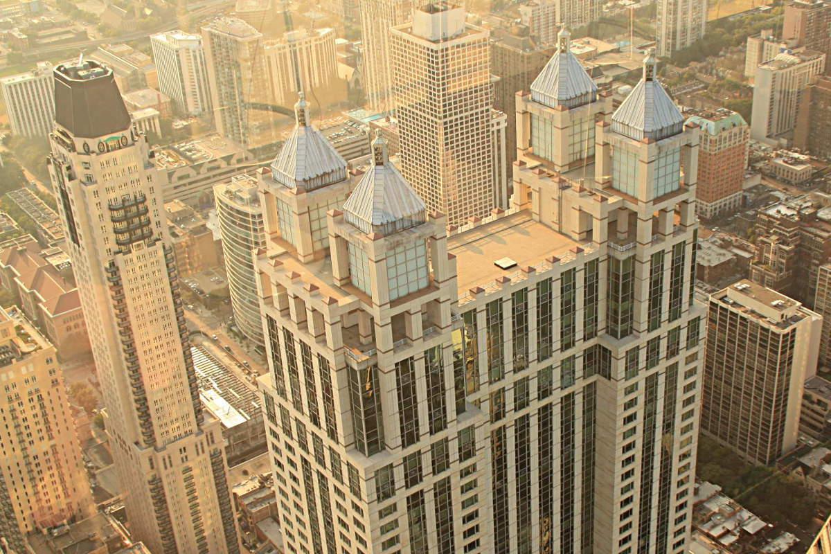 Chicago gesehen vom John Hancock Building