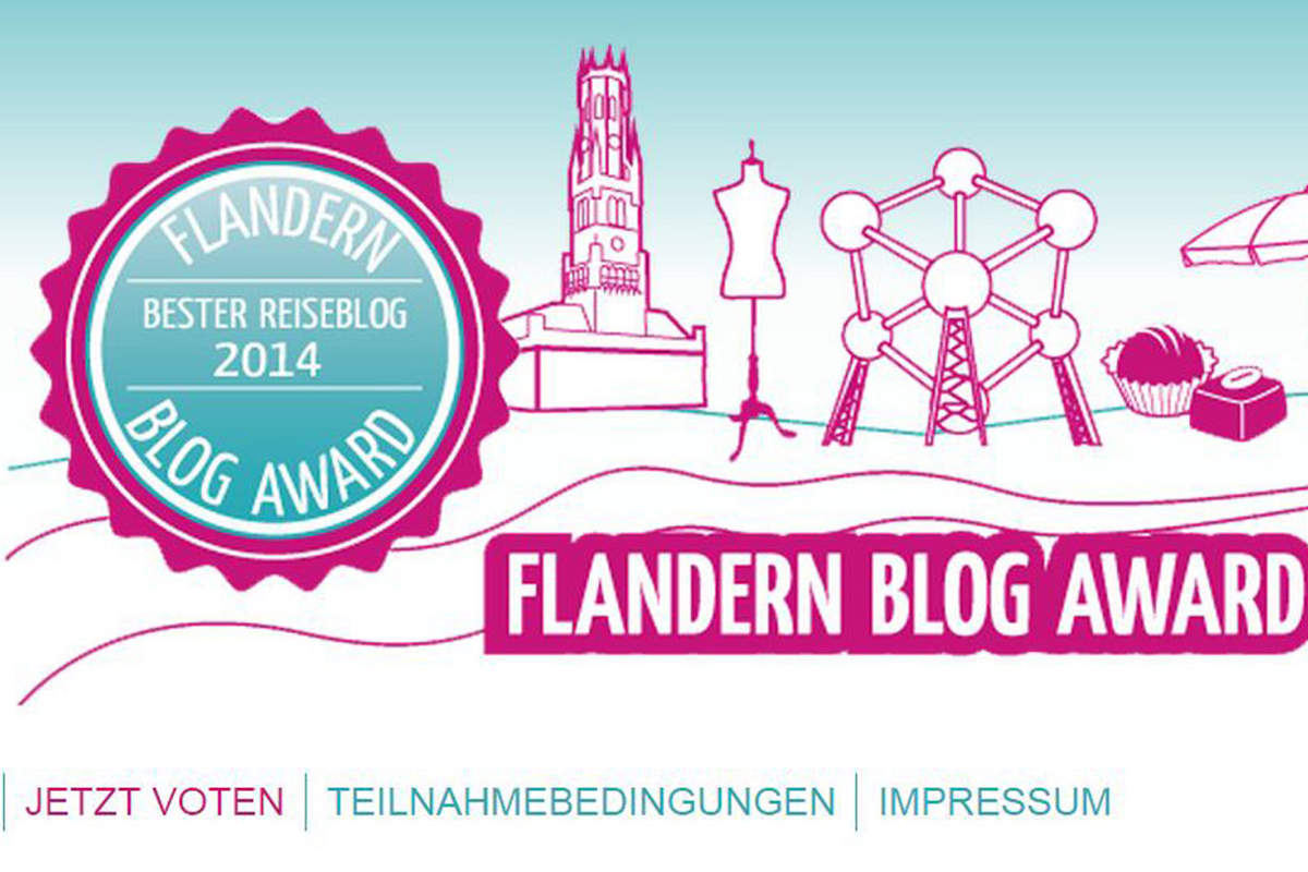 Screenshot von der Website zum Flandern Blogaward