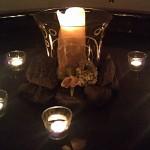 Kerzen im Wellness-Bereich des Hotel Esplanade
