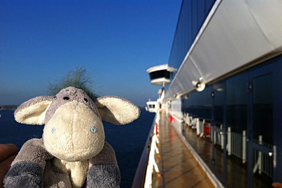 Strahlender Sonnenschein in Kiel - so kann eine Kreuzfahrt gern beginnen