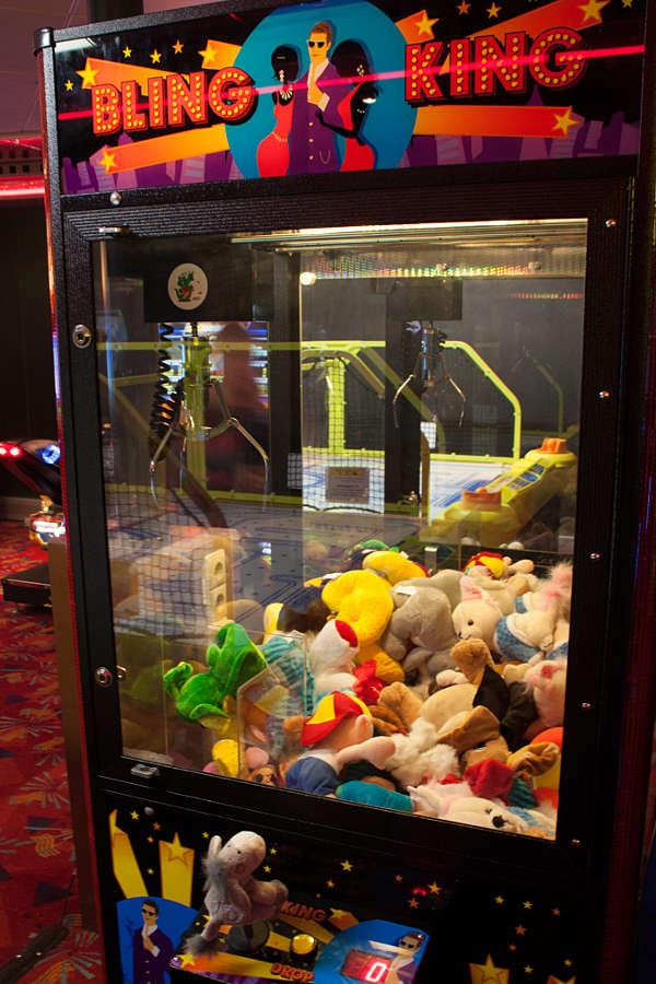 In der Spielhalle für Kinder kann jeder sein Glück versuchen