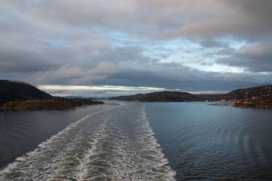 Rückfahrt nach Kiel durch den Oslofjord - bei nicht ganz so schönem Wetter