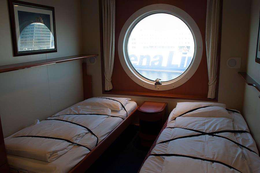 Zwei der insgesamt vier Betten unserer 3-Sterne-Kabine an Bord der Color Magic