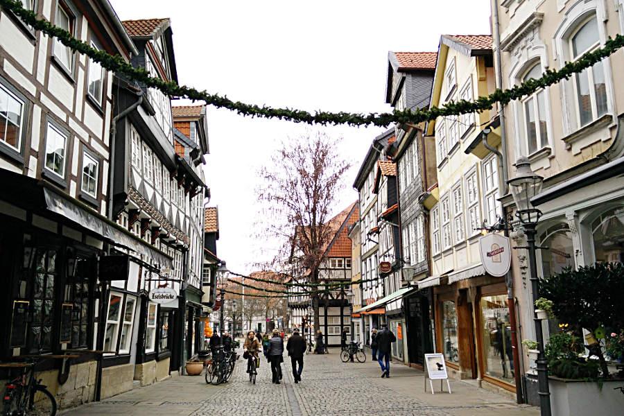 Braunschweiger Weihnachtsmarkt Esel Unterwegs