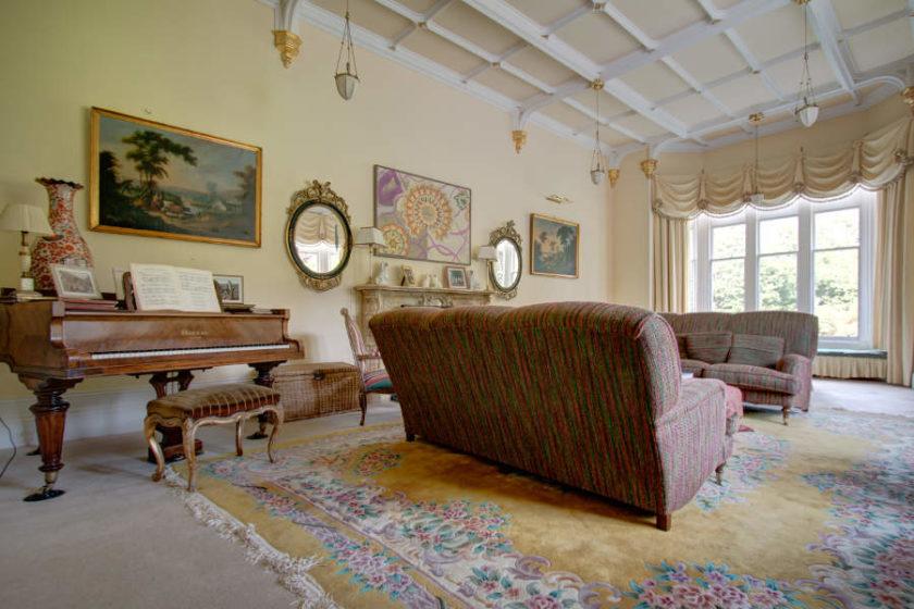 Im Musikzimmer von Scatwell House hätten wir auch Klavier spielen können. (c) Carolin Hinz www.esel-unterwegs.de