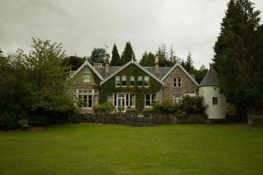 Der Kücheneingang von Scatwell House vom Garten aus gesehen. (c) Carolin Hinz www.esel-unterwegs.de